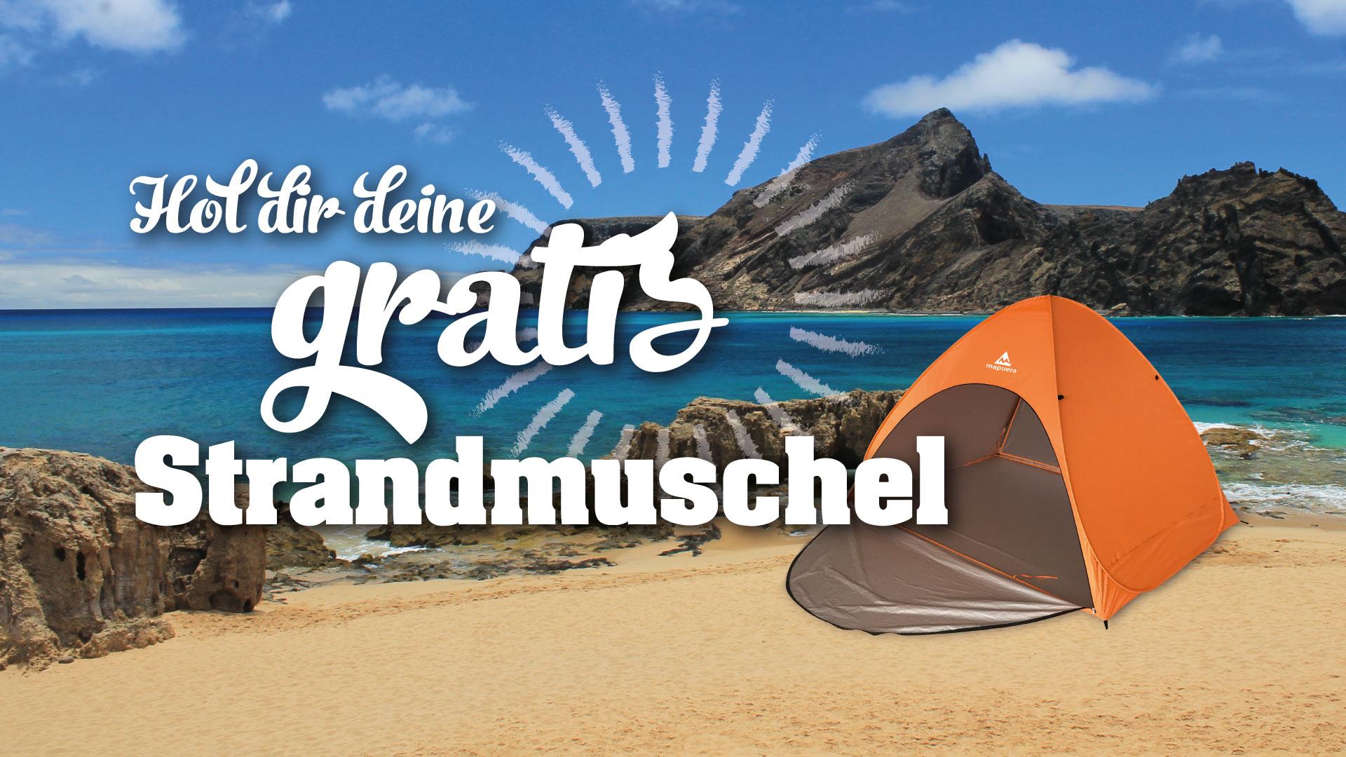 Gratis Strandmuschel für Strandeintrag